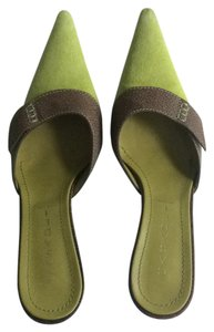 Casadei Green Suede Lime Green Mules