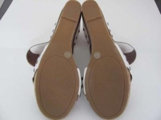 Lucky Brand White and Tan Wedges