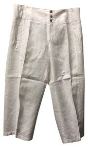 Moda International Victoria's Secret Lounge Capris White Linen
