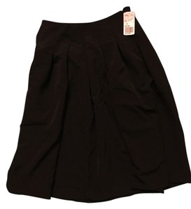 Forever 21 Formal Midi Skirt Black