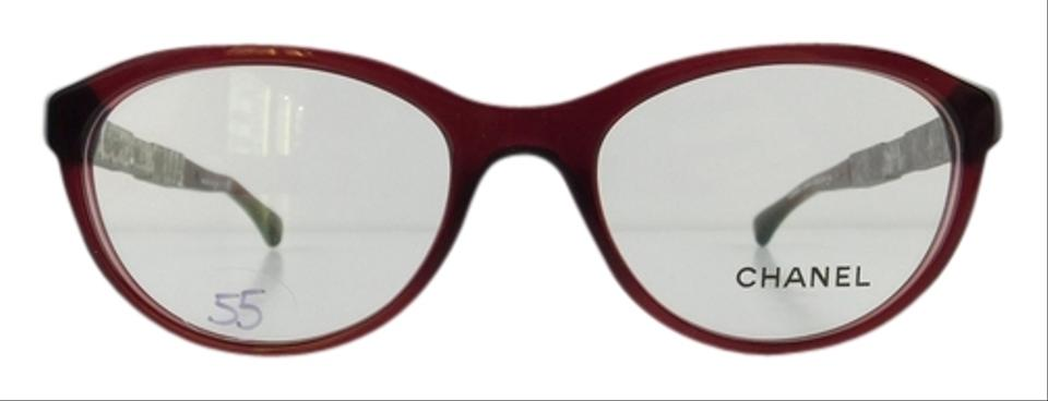 Chanel Eyeglass Frames With Rhinestones : Chanel Gently Used Eyeglasses 3306-B c. 539 Burgundy ...