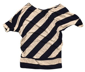 Love Culture Casual Comfortable Striped Top Blue