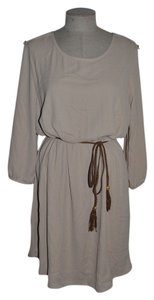 Bluebell short dress Khaki Shirttail Tunic Braided Belt Bohemian on Tradesy