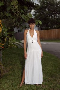 White Maxi Dress by Lirome Resort Summer Beach Vacation