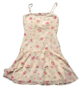 Other short dress Pink Floral Summer Drop Waist Formal on Tradesy
