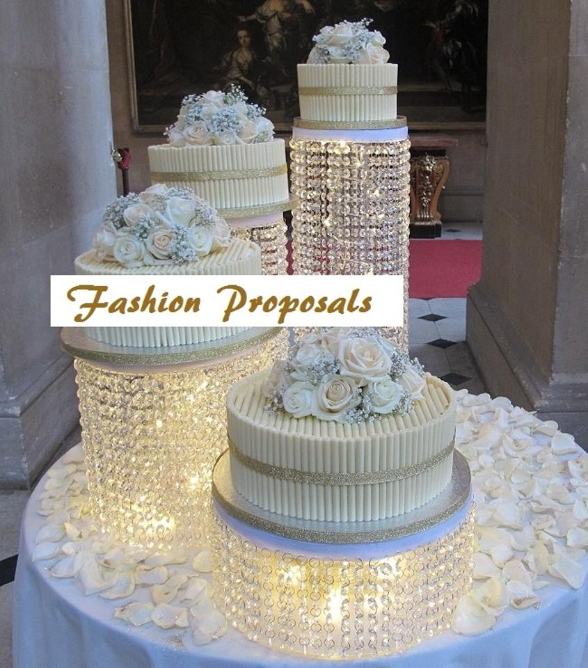 decorative cake stands for wedding cakes 2 wedding cake stand cascade waterfall set of 4 3451
