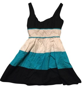 Speechless short dress Teal Striped Summer Comfortable Cute on Tradesy