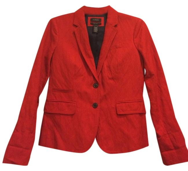 J.Crew Light Work Red Navy Blazer