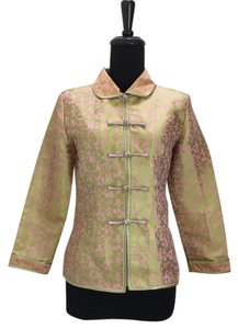 Other Chinese Silk Jacket Characters Top green, pink