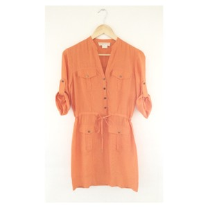 Michael Kors short dress TANGERINE Silk on Tradesy