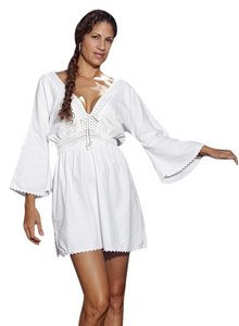 Lirome short dress White Crochet Boho Resort Vacation on Tradesy