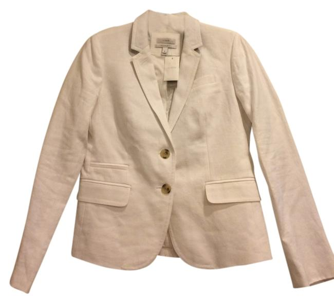 J.Crew Linen Jacket Schoolboy Coat Suit Jacket White Blazer