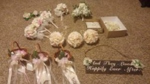 Wedding Ceremony Flowersbaskets Pillow Lasso