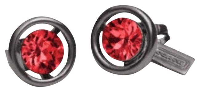 Item - Black/Red Halo Stud Red/Black Earrings