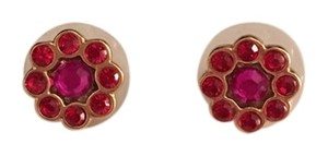 Kate Spade Red and Pink Flower Stud Earrings