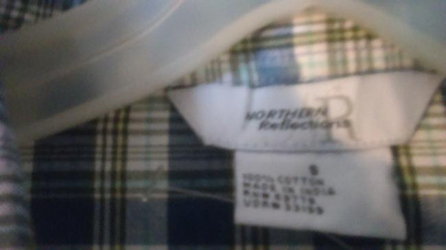 Northern Reflections Button Down Shirt Blue and white