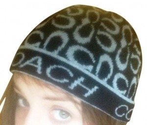 Coach Coach Black & Grey Winter Hat / Beanie