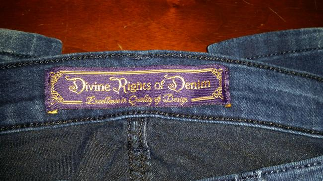 Divine Rights of Denim Stretchy Skinny Jeans-Dark Rinse