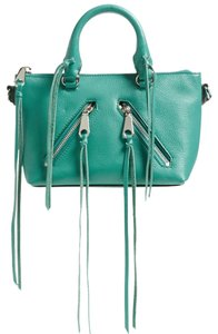 Rebecca Minkoff Micro Mini Fringe Rocker Satchel in Blue/Green