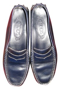 Tod's Classic Loafers Size 5 Navy Flats