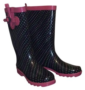 Capelli New York Black/ pink with hearts stars and circles Boots