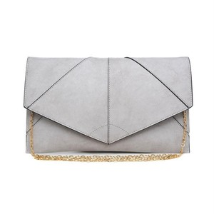Urban Expressions Vegan Leather Casual Smoke Grey Clutch