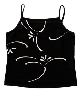 Parallel Cami Floral Geometric Top Black