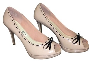 Payless Light pink with black bow Pumps