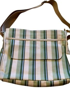 Gap beige/green strips Travel Bag