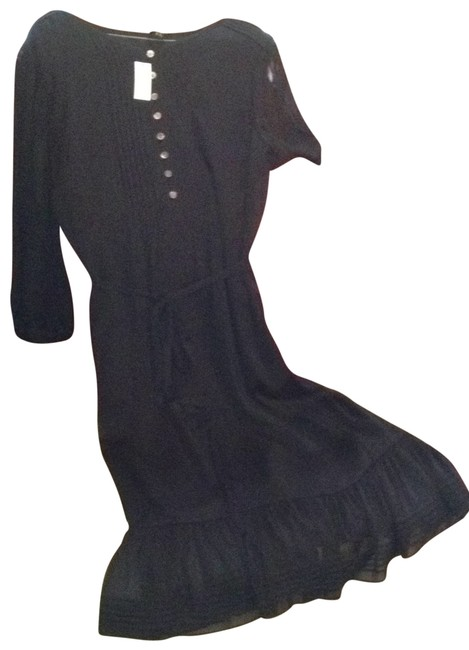 Preload https://item1.tradesy.com/images/talbots-black-crinkled-chiffon-pintuck-mid-length-workoffice-dress-size-12-l-146850-0-0.jpg?width=400&height=650