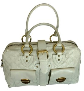 Marc Jacobs Quilted Quilted Leather Satchel in Ivory