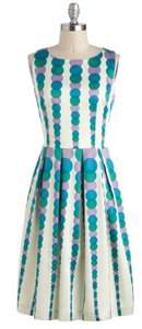 Modcloth Prom Polka Dots Silk Dress