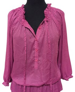 Ann Taylor LOFT Top Pink and black