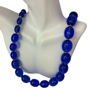 CREATIVE DESIGNS BY APPEALINGLADY Blue Lapis Beaded Necklace ON SALE NOW