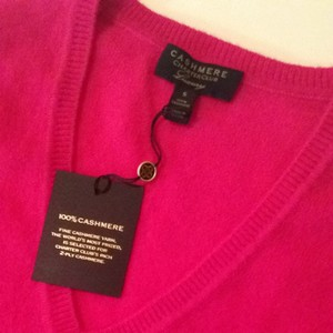 Charter Club Cashmere V Pink New Fuchsia Sweater