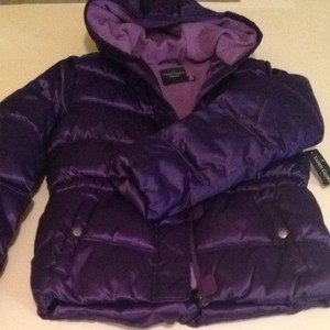 Faded Glory Puffy Jacket Purple Coat