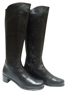 Stuart Weitzman Tall Riding Nappa Leather Black Boots