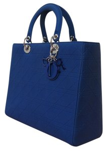 Dior Lady Large Tote in Navy blue (dark blue)