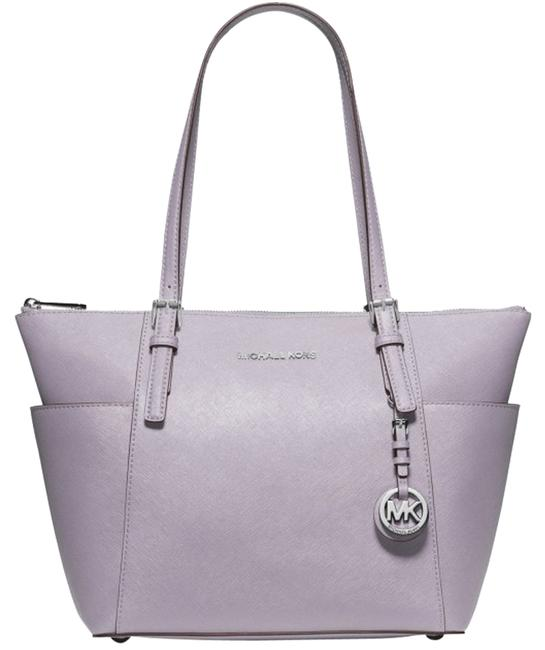 Item - Jet Set Top-zip Saffiano Lilac/Silver Leather Tote