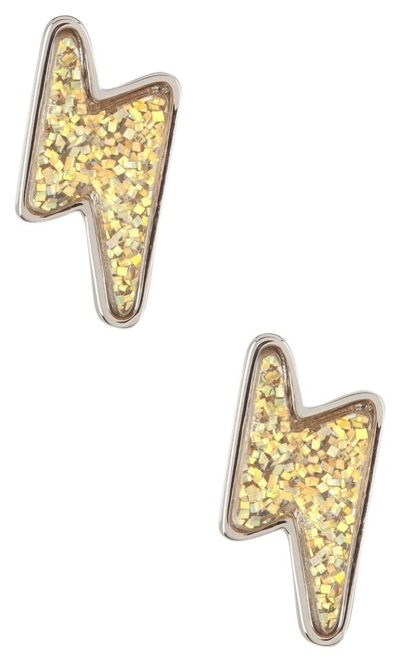 Marc By Jacobs New Mbmj Grab And Go Debbies Lightning Bolt Stud Earrings