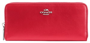 Coach Coach 53707 Plum Smooth Leather Zip Around Wallet