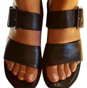 ASKA Wedge Gucci Black Sandals