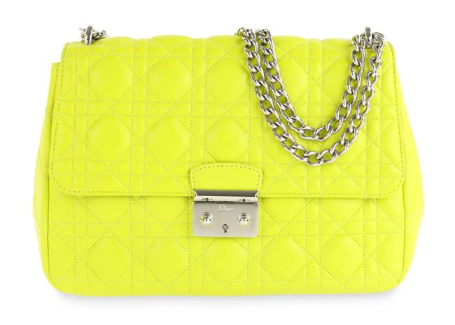 Item - Yellow Leather Large Miss  Bag