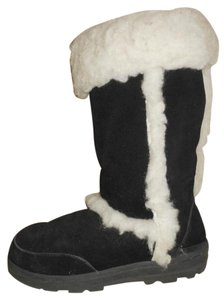 EMU Australia Leather black & white Boots