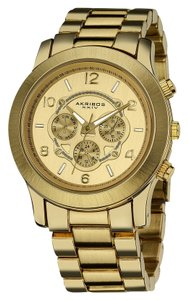 Akribos XXIV Women's Yellow Gold Watch