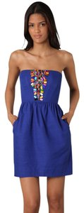 Shoshanna Strapless Beaded Dress
