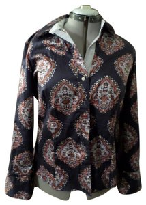 Tommy Hilfiger Paisley Top Navy Blue, Pattern