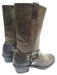 Frye Straps And Studs Charcoal Boots