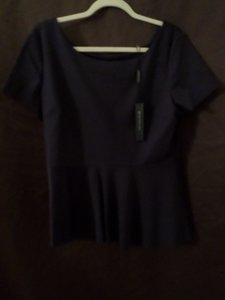 Elie Tahari Top Navy Blue