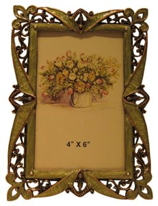 Victorian Embellished Copper Filigree Frame (for Photos 4